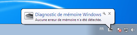 notification de fin de test