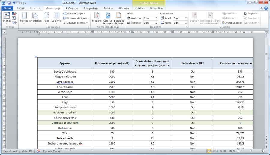 Transformer un fichier Excel vers Word