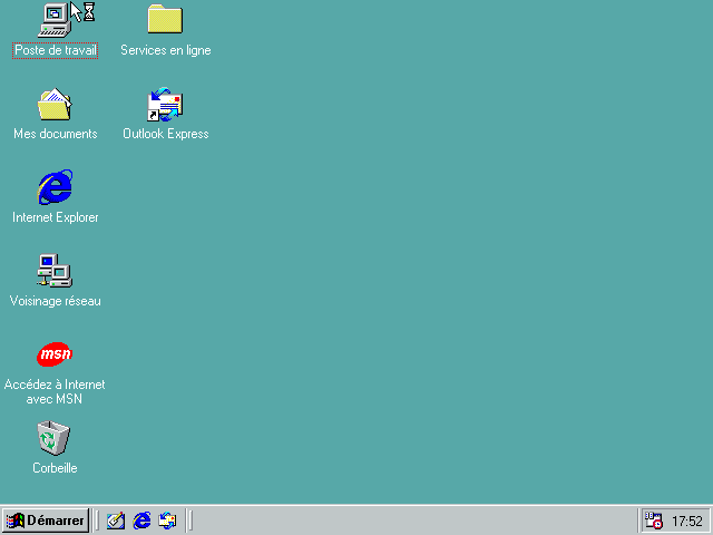 Bureau Windows 98 SE