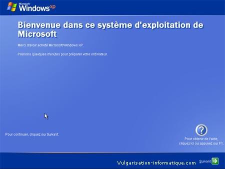PROCEDUR D'INSTALLATION DE WINDOWS XP Etape_21
