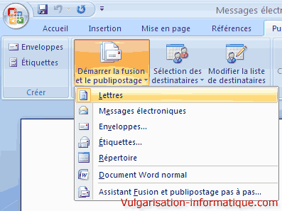 Publipostage avec word et excel office - Comment faire un publipostage sur open office ...