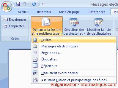 Publipostage avec word et excel office - Comment faire un publipostage sur open office ...
