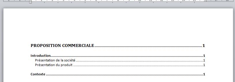 Cr er une table des mati res avec word - Exemple table des matieres ...