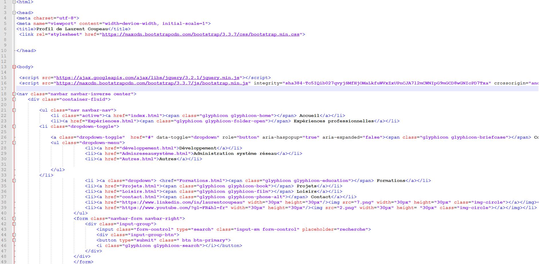 bootstrap  menu d u00e9roulant  mon data